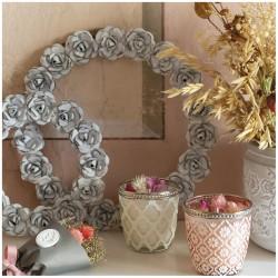 Couronne métal Roses - Moyen modèle