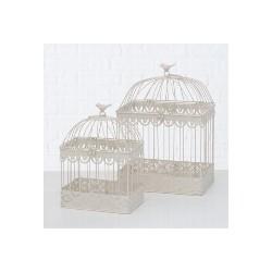 Cage oiseaux carrée Blanche S
