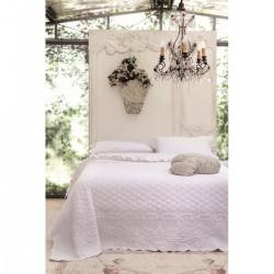 Boutis de lit blanc (260x260cm)